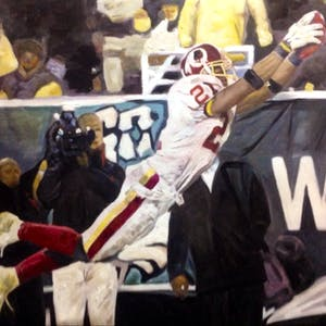 Custom Football Player Oil Painting