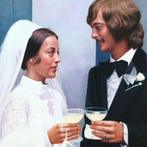 Custom Couple Wedding Portrait Oil Painting